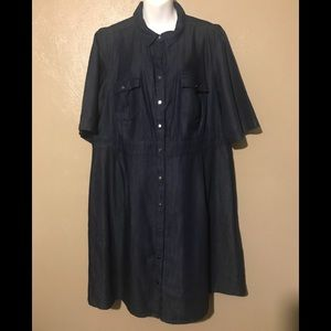 Dress barn denim dress size 18, NWOT